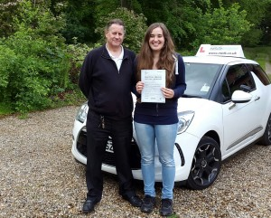 Alice Schute passes driving test